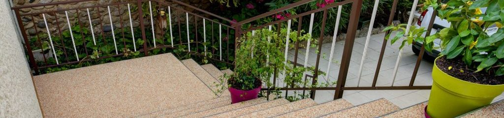 Marble gravel - stair steps - riser - anti-slip