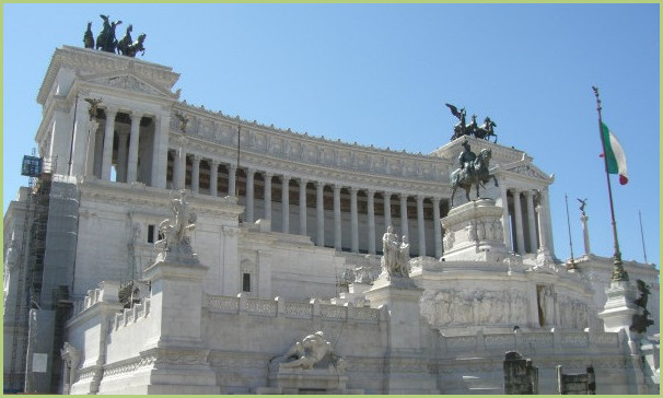 The monument vittoriano of Venice
