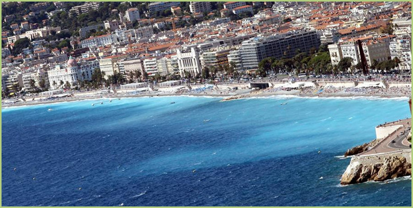 The city of Nice in the south of France